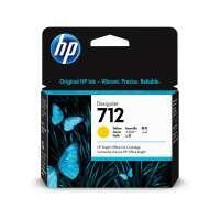 HP 712 Yellow DesignJet Ink Cartridge, 3ED69A