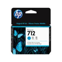 HP 712 Cyan DesignJet Ink Cartridge, 3ED67A