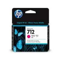 HP 712 Magenta DesignJet Ink Cartridge, 3ED68A
