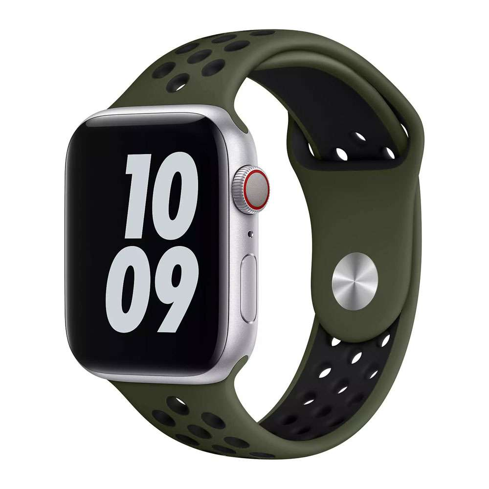 WIWU Unisex Dual Color Sport Band Watchband For iWatch, Army Green