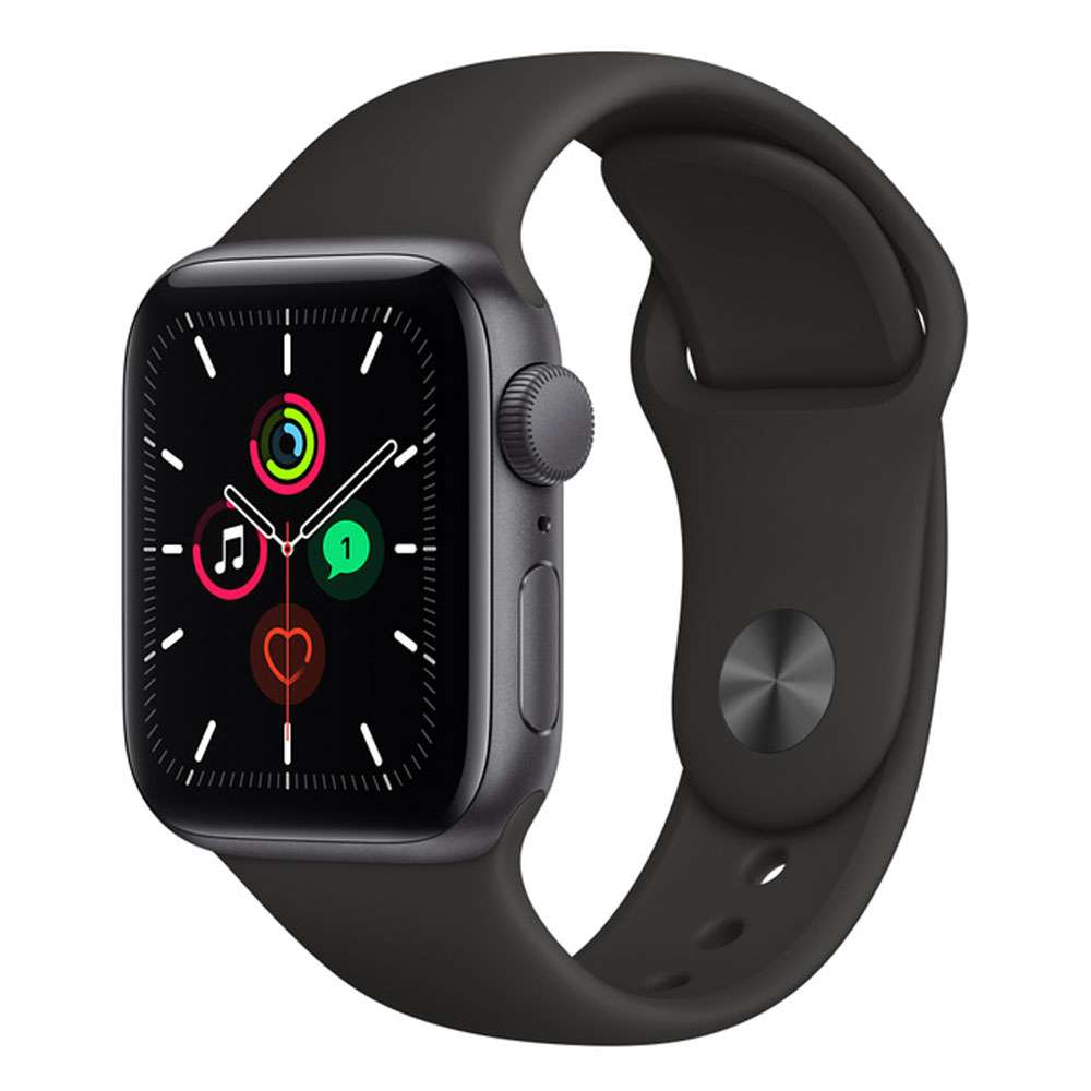 Apple Watch SE 40 mm GPS, Space Grey Aluminium Case with Sport Band black