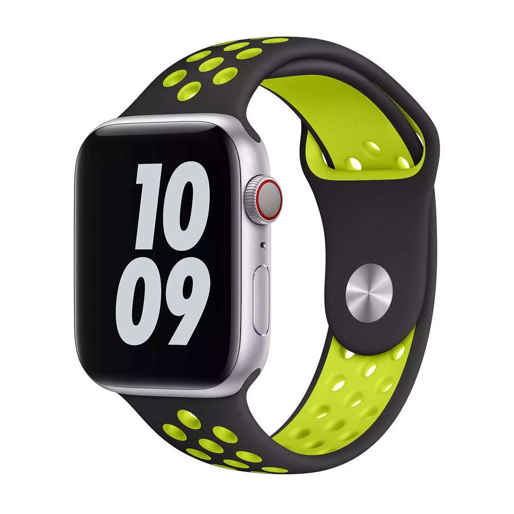WIWU Unisex Dual Color Sport Band Watchband For iWatch, 42-44mm
