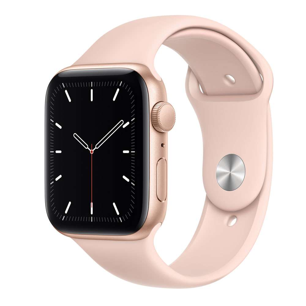 Apple Watch SE 44 mm GPS, Gold Aluminum  Case with Sport Band