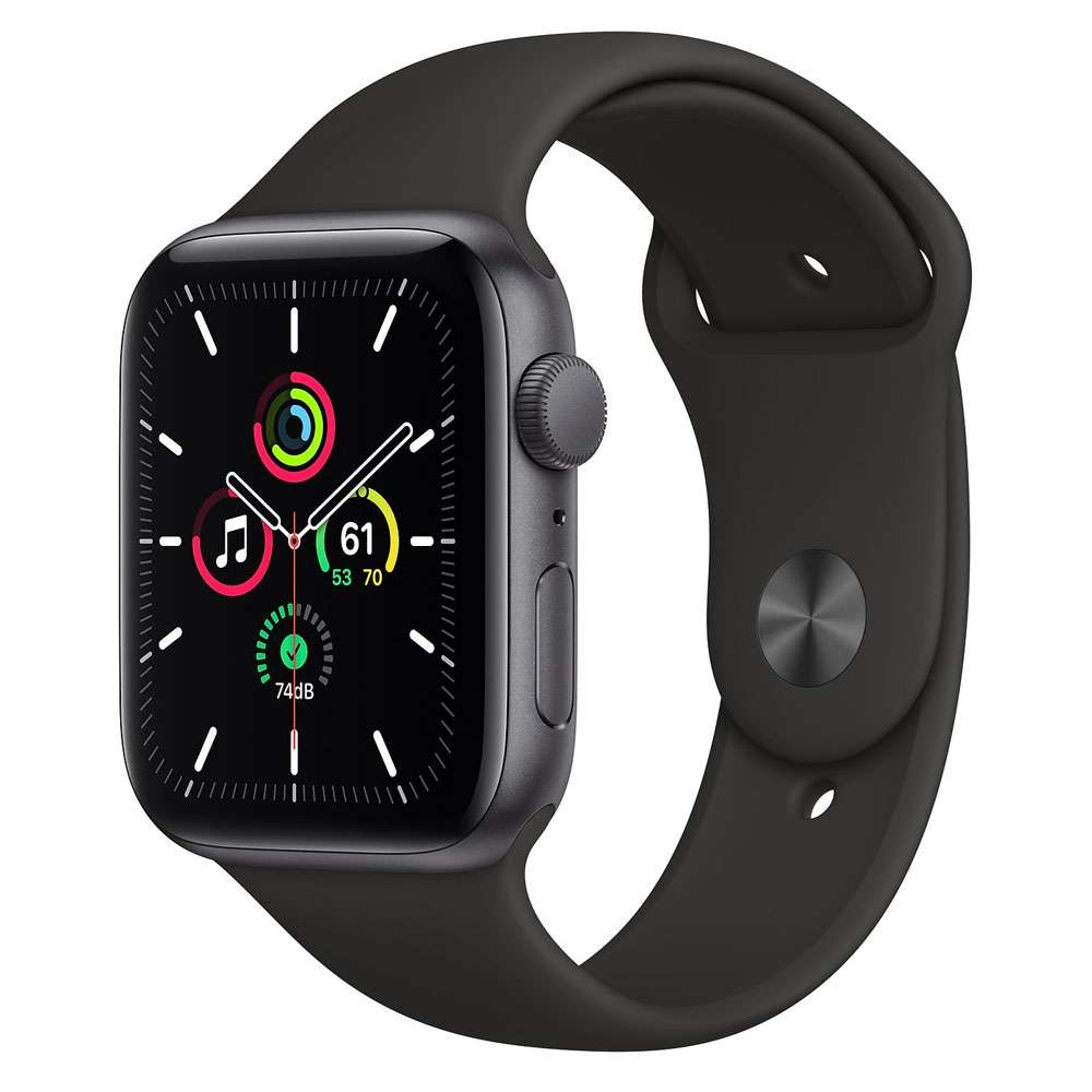 Apple Watch SE 44 mm, GPS, Space Gray Aluminum Case with Sport Band